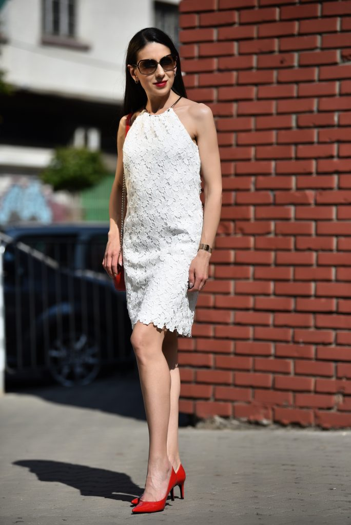 Little white lace dress